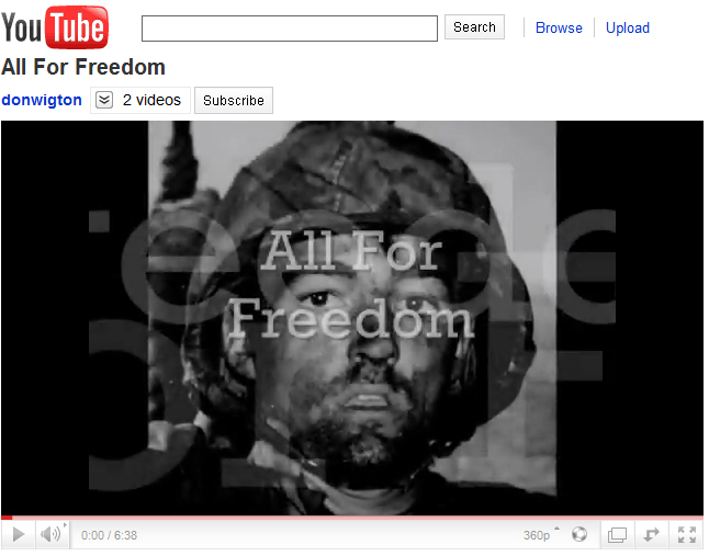 YouTube All for Freedom - Find the Cost of Freedom